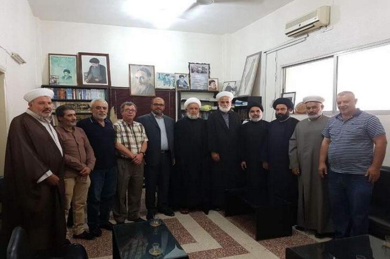 دیدار گروه فلسطینی با شیخ علی یاسین
