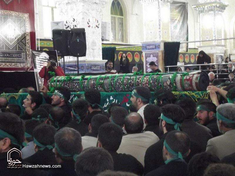تصاویر/ مراسم سنتی مذهبی قالیشویان فین در مشهد اردهال