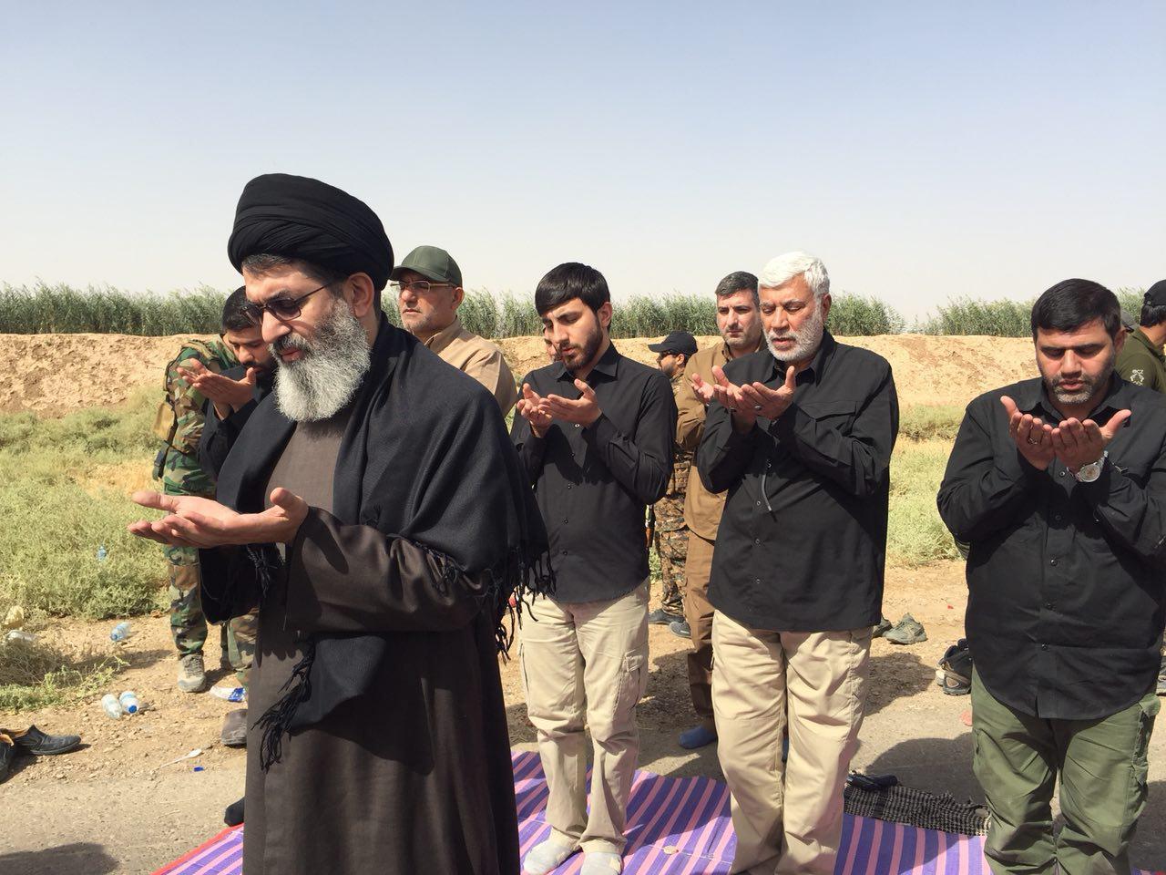 حضور سید هاشم الحیدری به همراه فرماندهان بسیج مردمی در منطقه حویجه