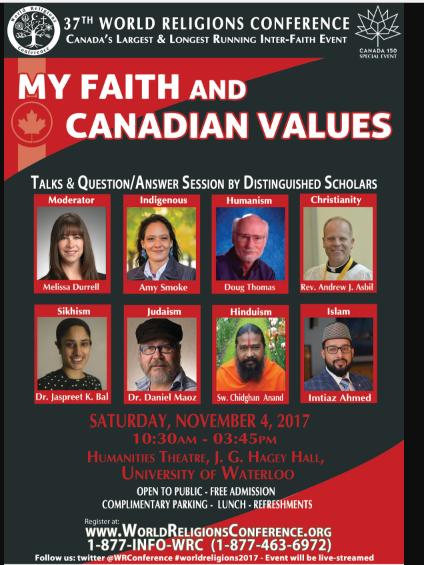 سی و هفتمین همایش ادیان جهانی در دانشگاهی در کانادا برگزار میشود