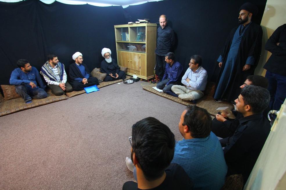 آیت الله بشیر نجفی و هیئتی از اصفهان