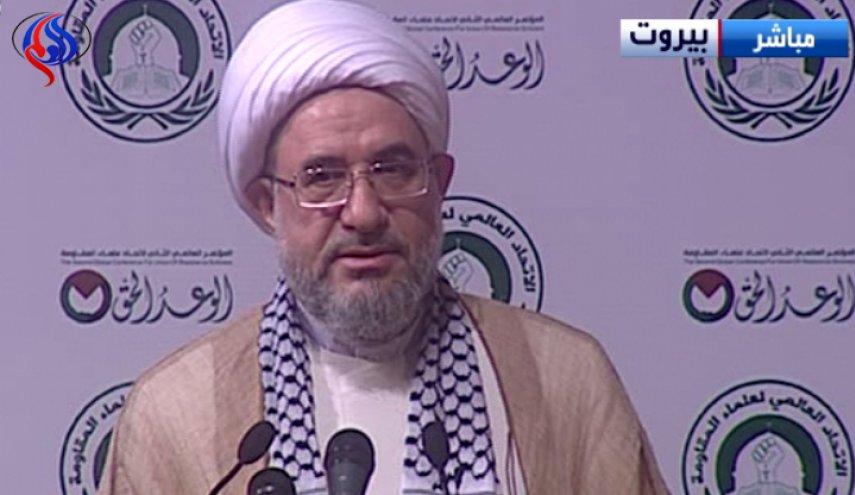 آیت الله محسن اراکی در اجلاس علمای مقاومت در بیروت
