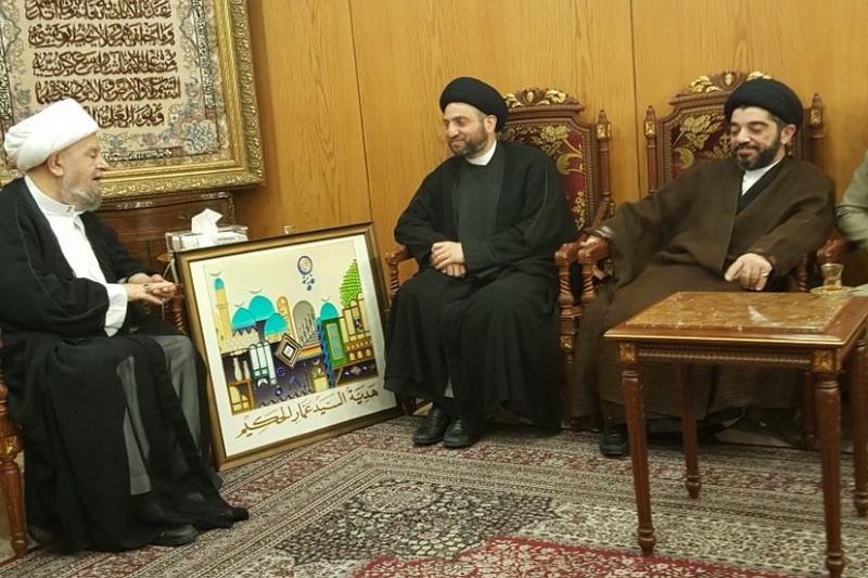 سید عمار حکیم با آیت الله قبلان در لبنان دیدار کرد