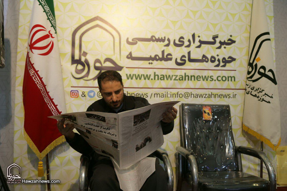 تصاویر/ غرفه خبرگزاری حوزه در هفتمین روز نمایشگاه مطبوعات-۲