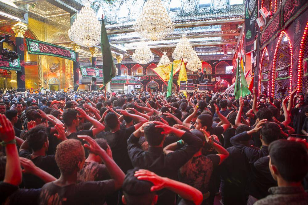 دسته های عزاداری مراسم اربعین حسینی را در کربلا آغاز کردند