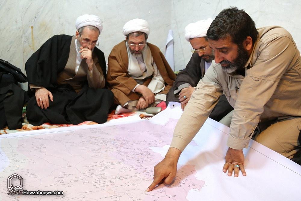 تصاویر/ بازدید آیت الله اعرافی از مناطق زلزله زده سرپل ذهاب