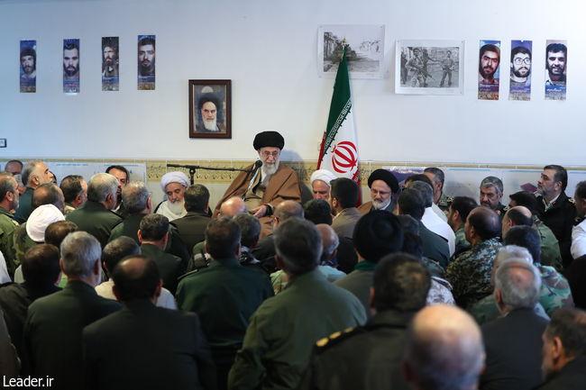 رهبر معظم انقلاب اسلامی در جلسه رسیدگی به مشکلات زلزله زدگان