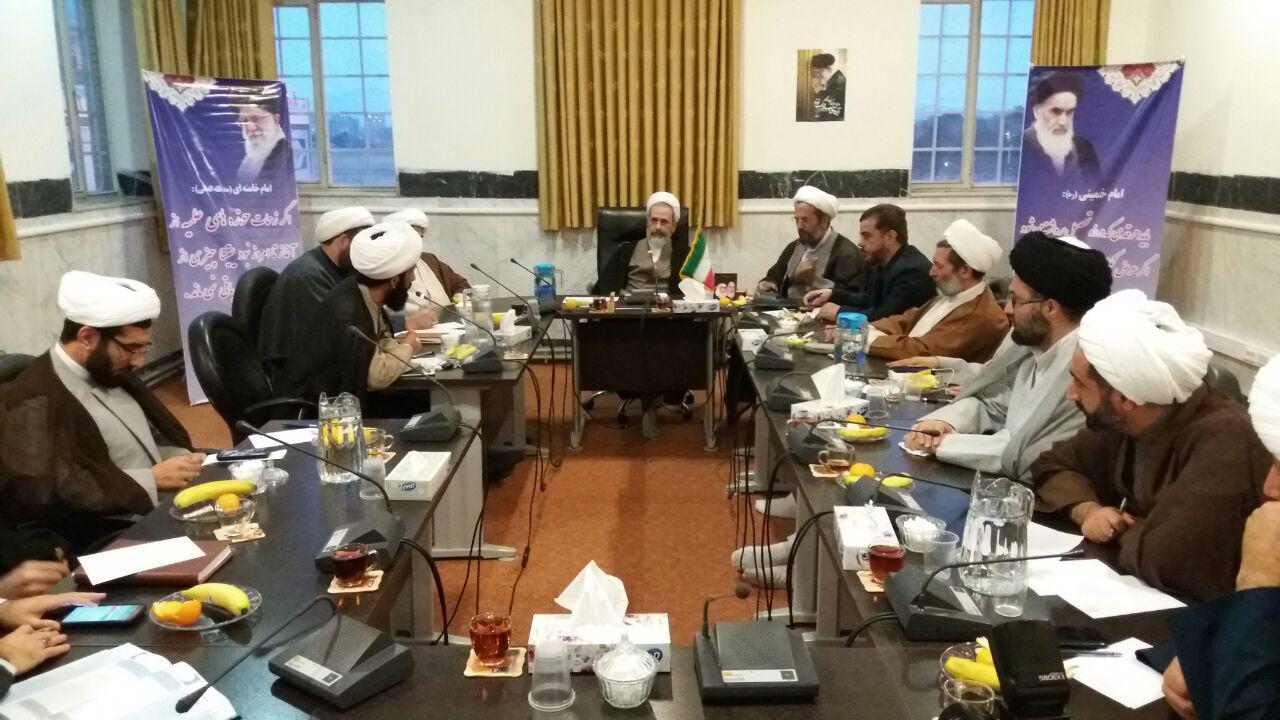 نشست آیت الله اعرافی با مدیران مدارس علمیه کرمانشاه