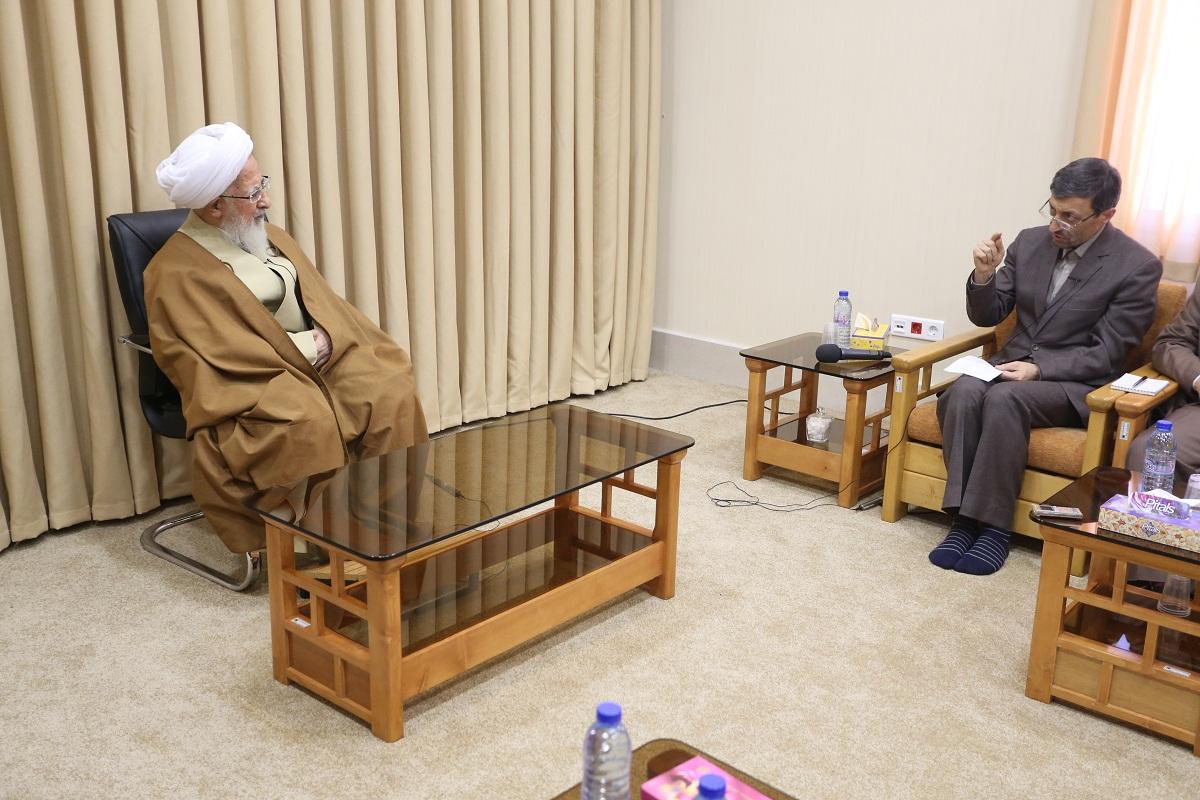 آیت الله العظمی جوادی آملی در دیدار با رئیس کمیته امداد امام خمینی(ره)