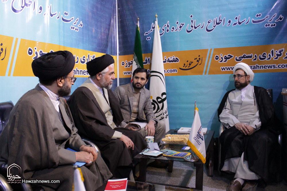 تصاویر/ غرفه رسانه حوزه در نمایشگاه دستاوردهای مراکز پژوهشی حوزوی