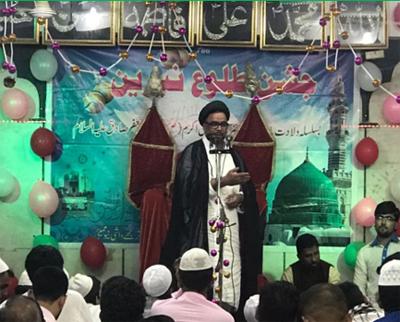 جشن «طلوع نیرین» در حوزه علمیه امام صادق(ع) بمبئی
