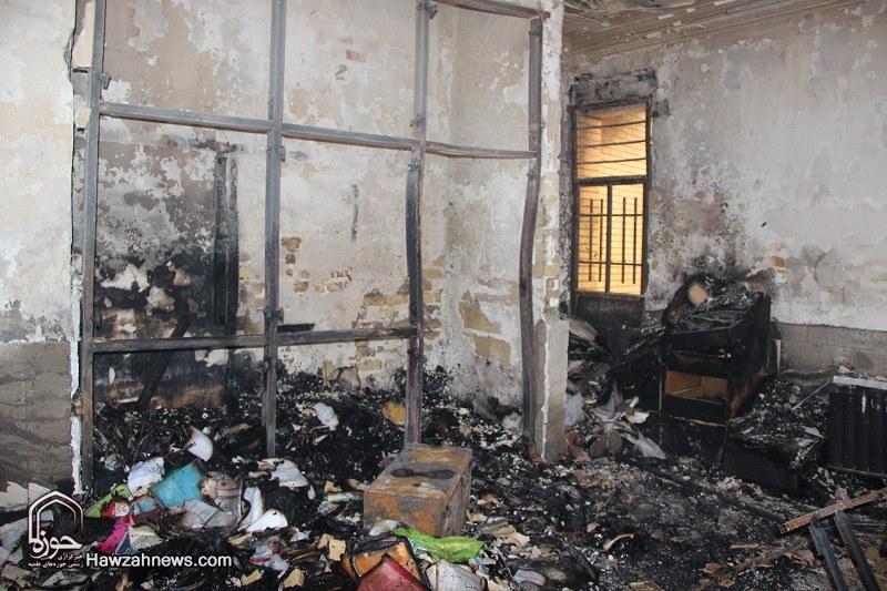 تصاویر/ تخریب حوزه علمیه شهرستان تاکستان توسط اغتشاشگران