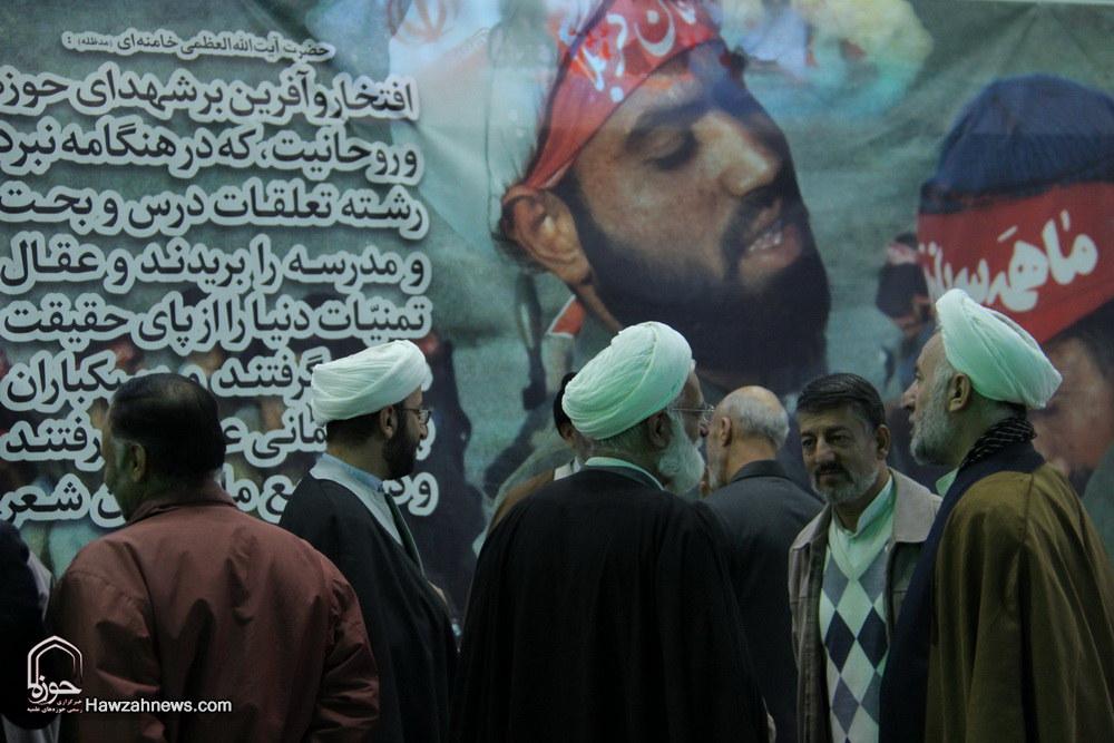 تصاویر/ یادواره شهدای روحانیت در مجتمع امام خمینی(ره) گلزار شهدای قم