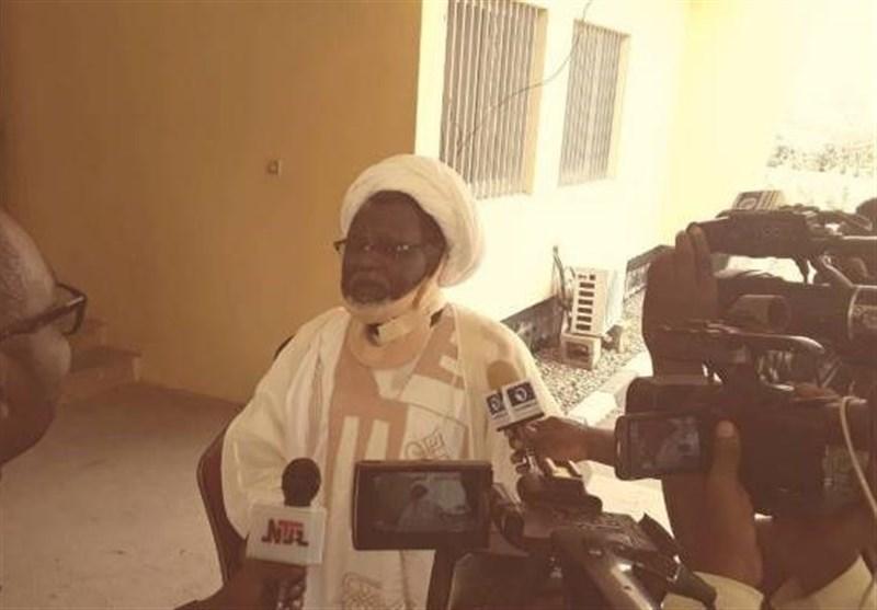 حضور شیخ ابراهیم زکزاکی بعداز دوسال زندان مقابل دوربین
