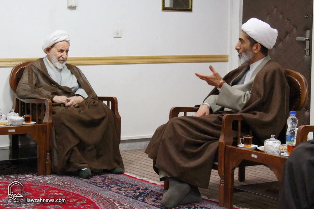تصاویر/ دیدار رئیس و اعضای کمیته آزاداندیشی حوزه های علمیه با آیت الله یزدی