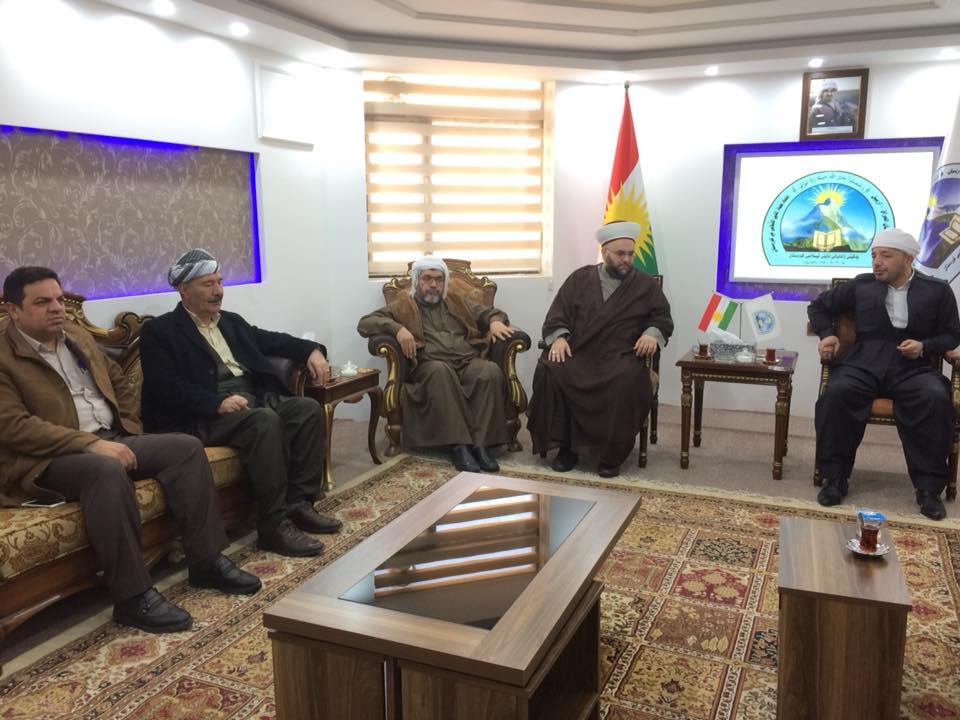 شیخ جبری با رئیس اتحادیه علمای اقلیم کردستان دیدار کرد