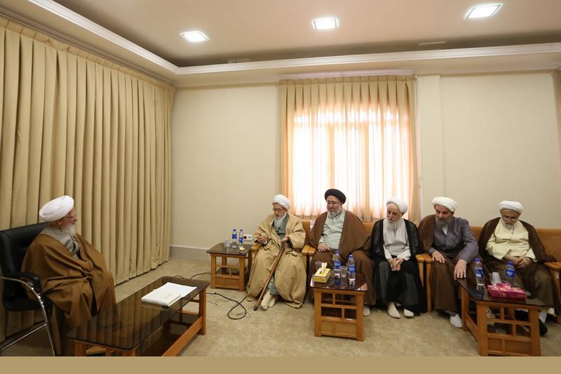 دیدار اعضای شورای حوزه علمیه استان مازندران