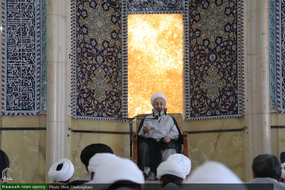 تصاویر/ درس خارج فقه آیت الله العظمی سبحانی در نوروز۹۷