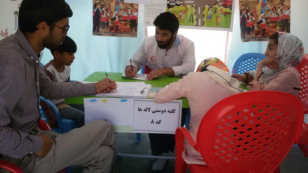 حضور طلاب جهادگر مدرسه علمیه جاجرم در مجتمع رفاهی امام رضا (ع)