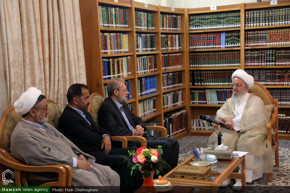 تصاویر/ دیدار رئیس مجلس شورای اسلامی با مراجع