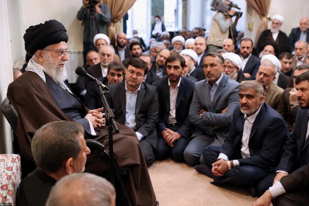 تصاویر/ دیدار جمعی از مسئولان و مدیران نظام با رهبر معظم انقلاب
