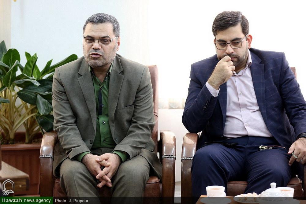 تصاویر/ دیدارهای جداگانه رئیس دانشگاه علوم پزشکی، جهاد دانشگاهی و بهزسیتی استان قم با آیت الله اعرافی