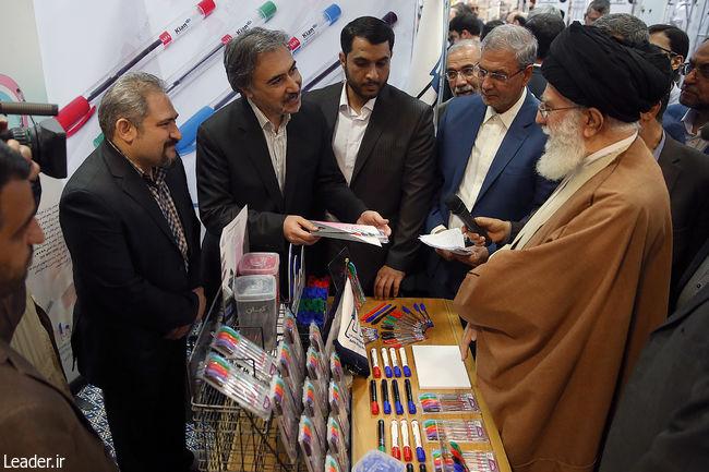 بازدید رهبر انقلاب اسلامی از نمایشگاه کالای ایرانی
