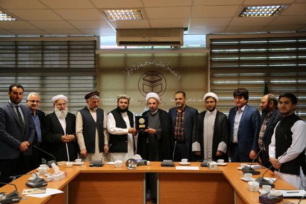 نشست مسئولان دانشگاه مذاهب و معاون وزیر حج افغانستان