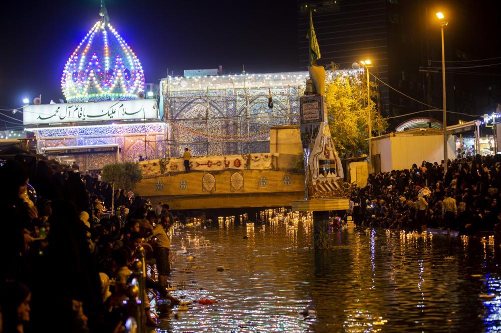 جشن میلاد امام زمان (عج) در مقام آن حضرت و در کنار نهر فرات برگزار شد