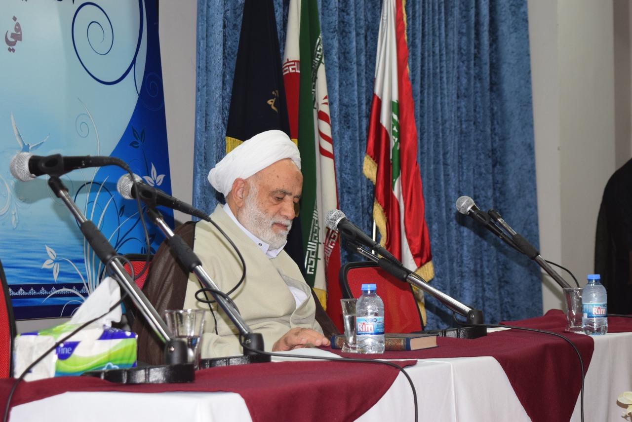 استاد محسن قرائتی در حوزه علمیه لبنان