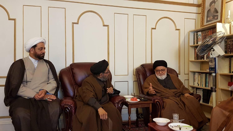 دیدار شخصیت های حوزوی پاکستان با نماینده آیت الله العظمی سیستانی