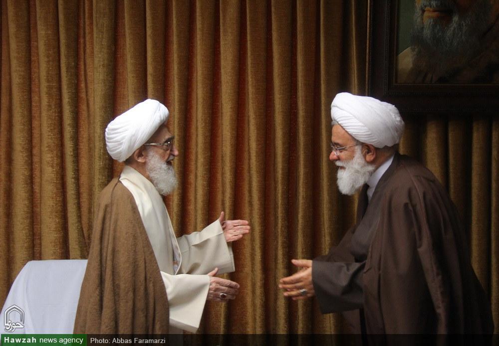 دیدار اعضای شورای حوزه علمیه تهران با آیات عظام صافی و نوری همدانی