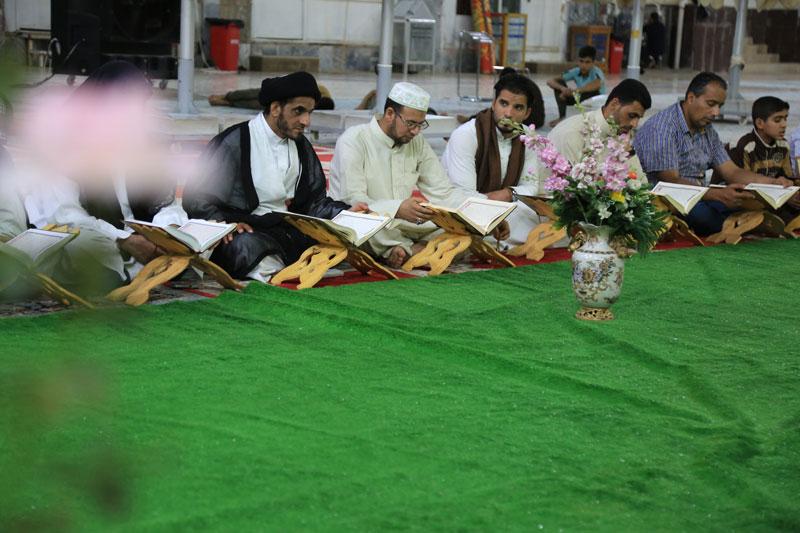 برگزاری محفل قرآنی در حرم مطهر امامین عسکریین (علیهما السلام)