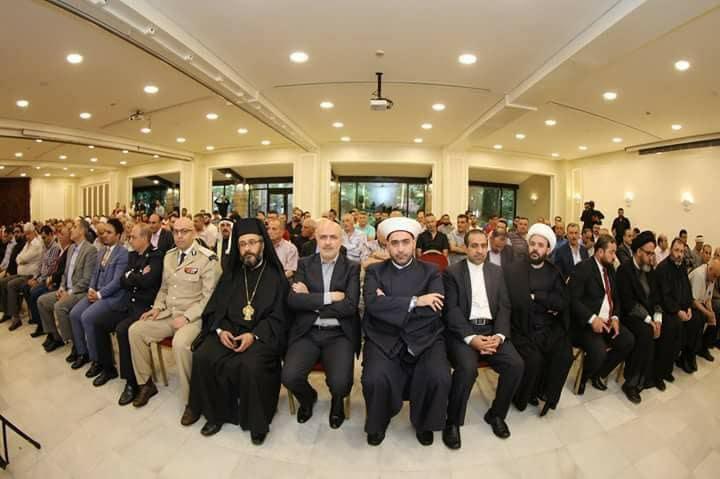 شیخ احمد قطان روحانی اهل سنت لبنان- مراسم عید مقاومت