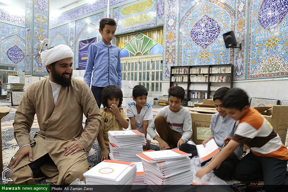 آماده سازی بسته های غذایی ضیافت امام حسن مجتبی(ع) برای حاشیه نشینان اهوازی