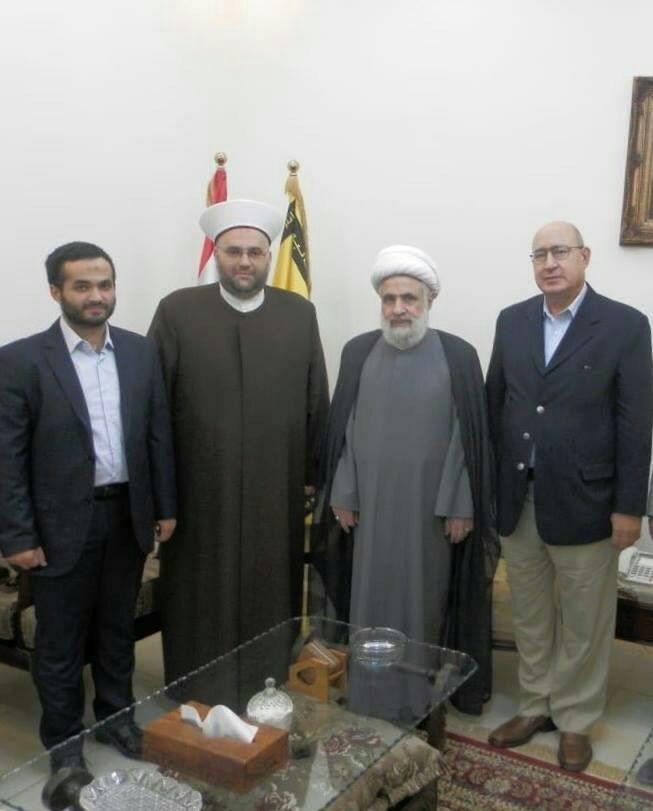 دبیرکل جنبش امت با معاون دبیر کل حزب الله دیدار کرد