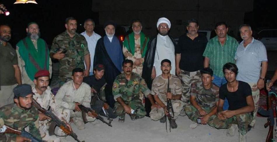 حضور مبلغين حوزه علمیه نجف در پایگاه های بسیج مردمی عراق
