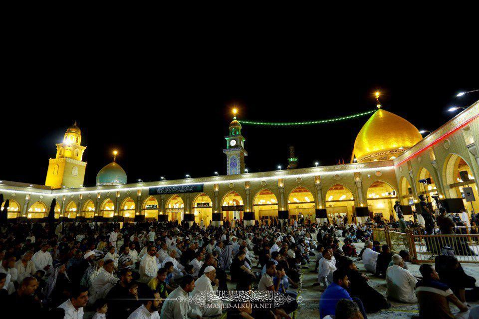 احیای شب قدر در مسجد کوفه و محل ضربت خوردن مولا علی (ع)