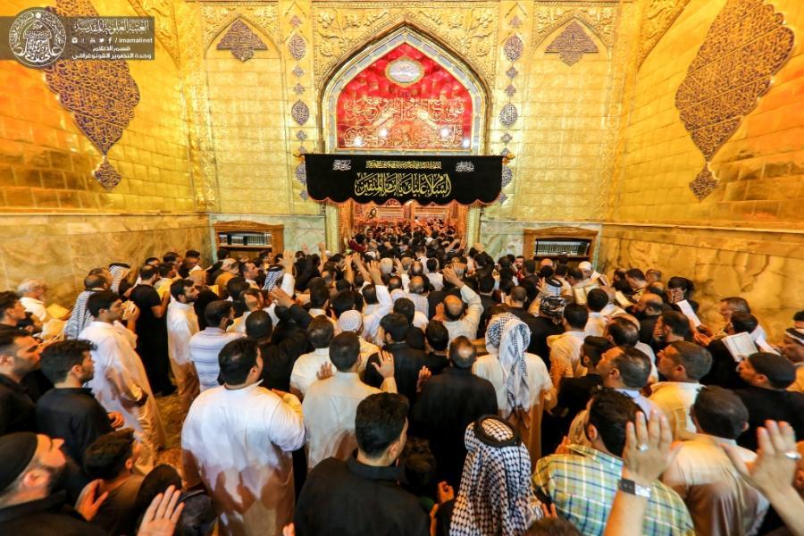 حضور صدها هزار عزادار در حرم امیر المؤمنین (ع) در شب شهادت آن بزرگوار