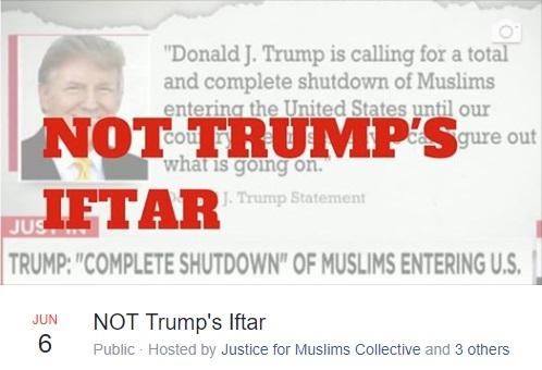 مراسم افطاری «نه به افطار ترامپ» در خارج از کاخ سفید برگزار می شود