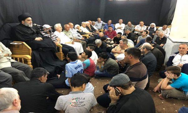 مراسم شهادت امیر المؤمنین(ع) در منطقه سیده زینب (س)برگزار شد