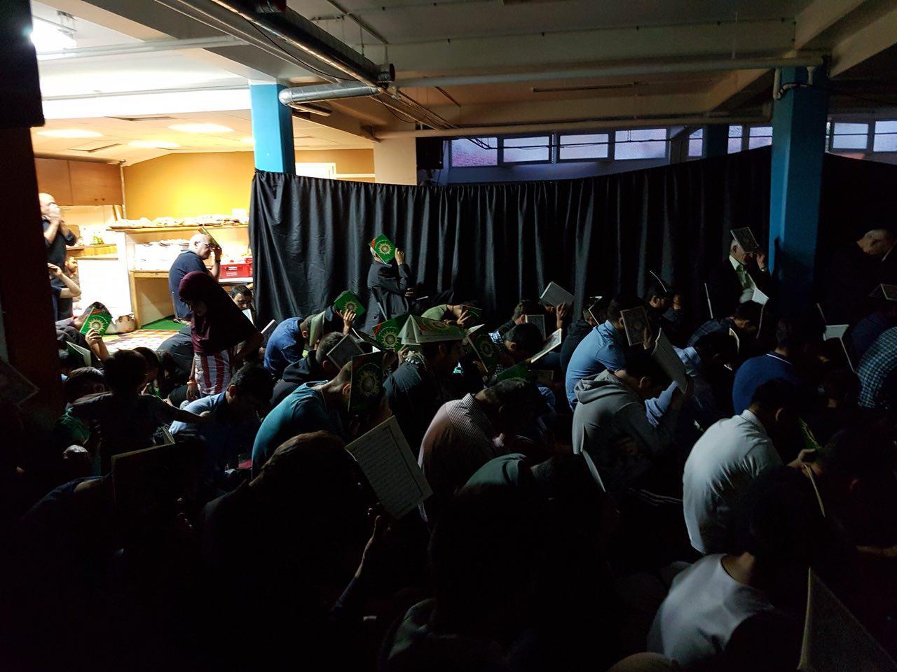 برنامه شبهای قدر در مرکز اسلامی امام صادق (ع) در شهر مالمو سوئد برگزار شد