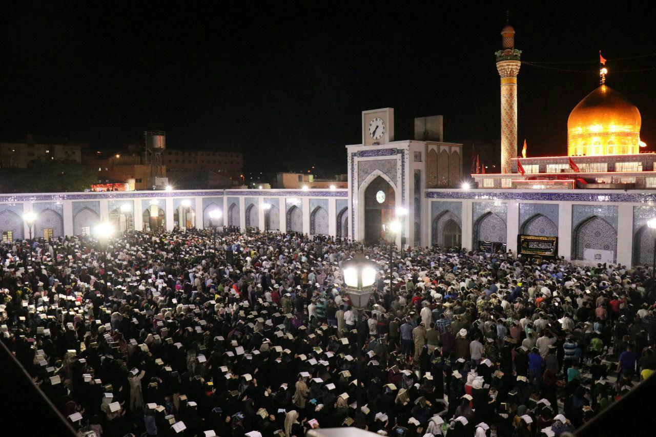 گزارش تصویری از مراسم سومین شب قدر در حرم حضرت زینب کبری (س)