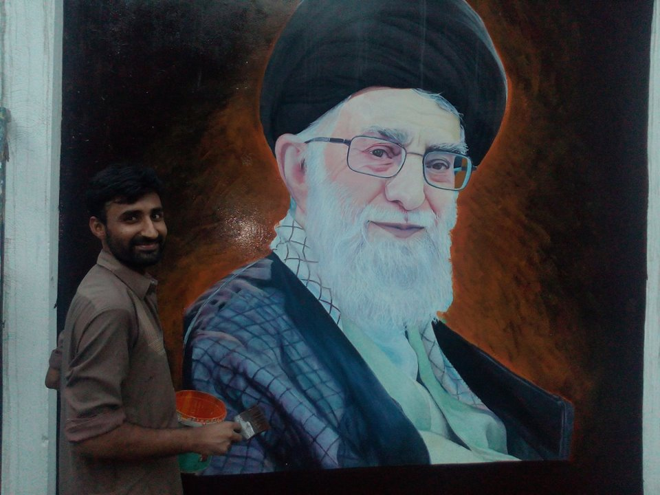 محمد عمران جوان هنرمند نقاش پاکستانی