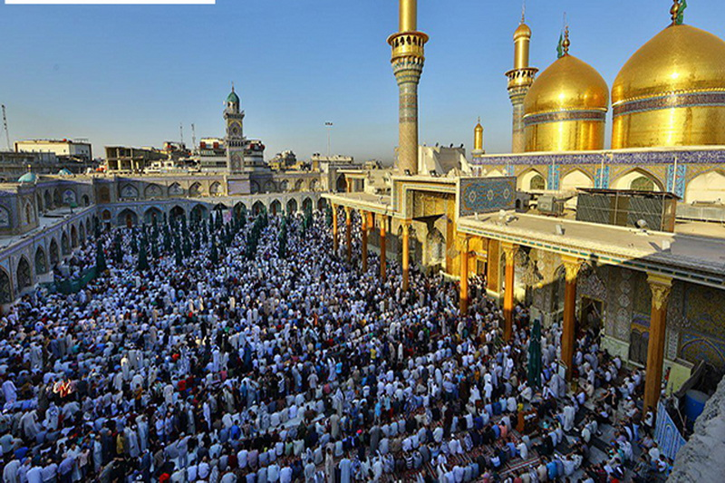 مراسم نماز عید فطر در جوار امام کاظم و امام جواد علیهما السلام