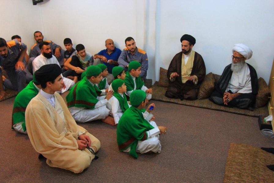 آیت الله بشیر نجفی از مراجع نجف اشرف در دیدار جمعی از مسئولین