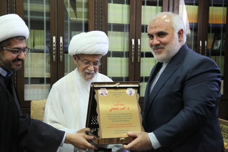 آیت الله نابلسی و محمد فتحعلی سفیر ایران در لبنان