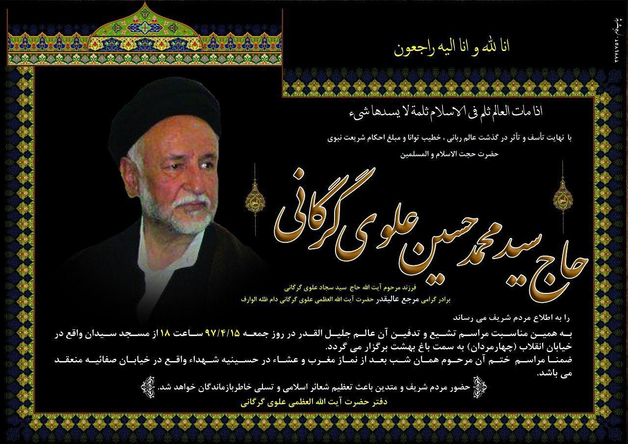 حجت الاسلام والمسلمین سید حسین علوی گرگانی