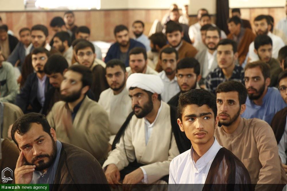 تصاویر/ بازدید آیت الله اعرافی از مدارس علمیه بابل