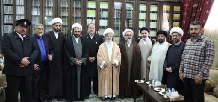 دیدار هیئتی از آستان قدس رضوی با آیت الله نابلسی از علمای لبنان